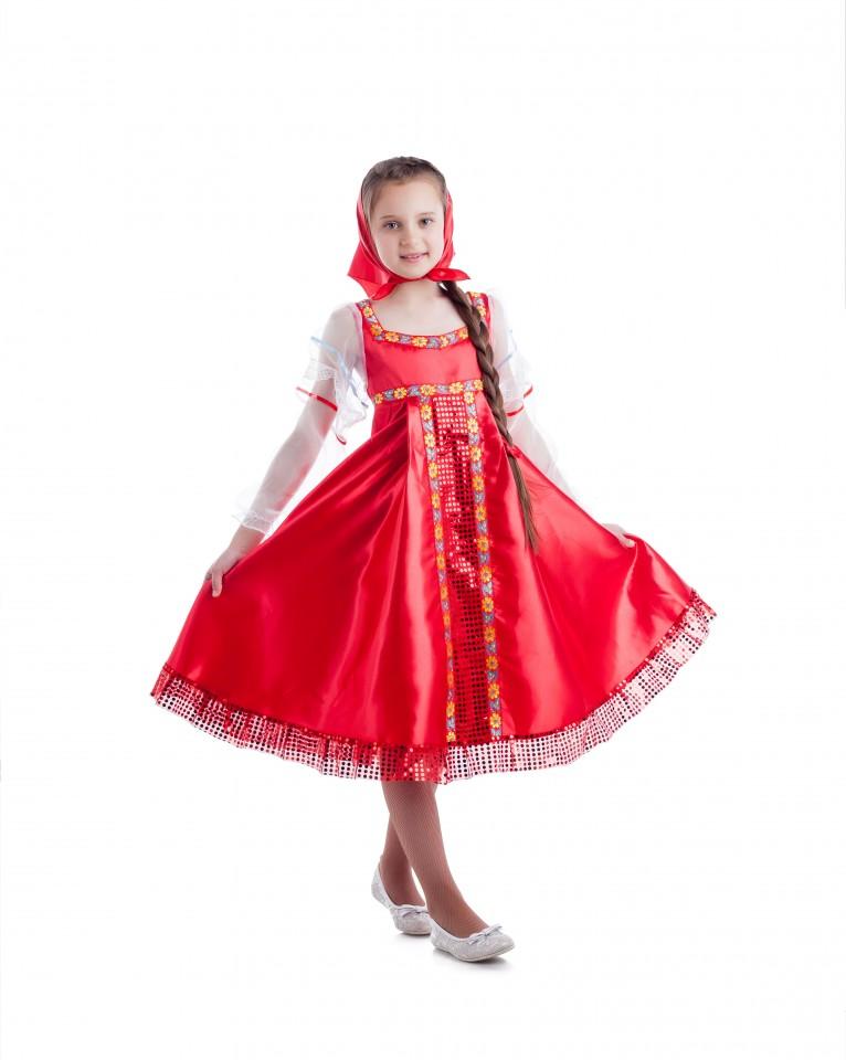 Сарафан в народном стиле для девочки